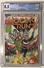 Logan's Run #1 CGC 8.5 (1977) - Movie adaptation. Perez cover/Conway story