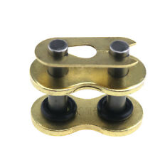 1 X Gold DID Heavy Duty 'X-Ring' Rivet Link Clip For Motorcycle Chain 530VX