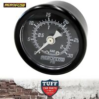 "Aeroflow Black 0 - 100 PSI EFI Fuel or Oil Pressure Gauge 1.5"" 38mm 1/8"" NPT"