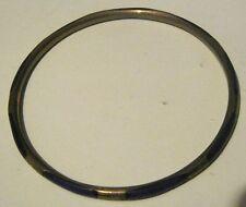GRANDE Semplice Gold Tone metallo bracciale bangle con decorazione a righe viola