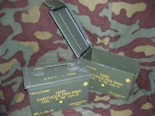 Cassetta portamunizioni in lamiera 5,56 mm.  Mis. cm 28x14x18 -usata-