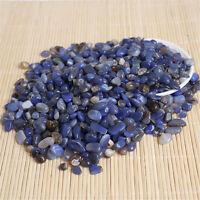 Wholesale 200g Bulk Tumbled Stones Blue Agate Quartz Crystal Healing Mineral