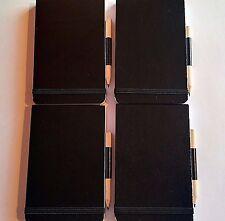 4 nuevo Anotador Y Lápiz-Estilo de policía - 96 Hoja gobernado Nota Libro-Cuatro Libros X