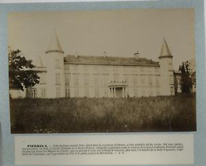 France, Château de Pierreux vintage albumen print, France Tirage albuminé  1