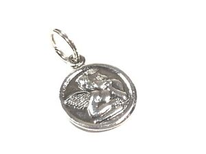 Beautiful Ladies Sterling Silver Angel Bracelet Charm - Signed SE