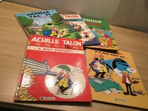 Achille Talon, French Hardcover Comics, 5-Book Lot, Very Good Condition