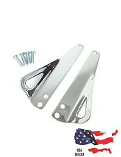 CHROME HARLEY TIE DOWN BRACKETS STREET GLIDE ROAD KING ULTRA CLASSIC ELECTRA FLH