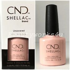 CND Shellac UV Nail Polish Choose From 123 Colours Top Base Nude Collection Uncovered
