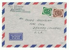 Germany 675 & 682 on 1950's cover to Denver - front only