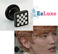 KPOP Korea DBSK MBLAQ Super Junior SHINee Chess Ear Piercing Black & White VIXX