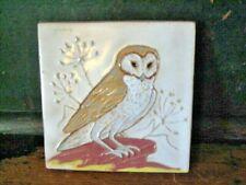 Vintage Mckusick Tile -Barn Owl-Labeled&Signed Great Condition