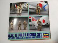 WW II Pilots Figurenset, 4 Stück Pilotenfiguren ERSATZTEIL, Hasegawa, Scale:1/48
