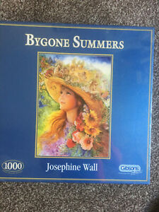 1000 PIECE JIGSAW PUZZLE GIBSONS BYGONE SUMMERS JOSEPHINE WALL NEW SEALED