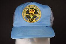 Ontario Provincial Police 75th Anniversary Logo Blue Snapback Trucker Hat 1984