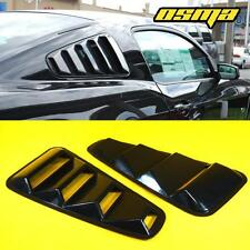 05-14 Mustang Coupe GT Coupe Gloss Black Rear Side Window Louvers Cover Vent 2PC