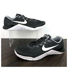 NEW Nike Metcon 3 CrossFit Cross Training Shoes Women's Size 11 Black & Silver