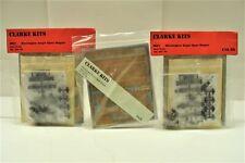 Vintage Clarke Kit Lot of 3 Brass 4mm Oo-Scale Workington Bogie Open Wagon Nos