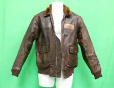US Navy USN Bauer G-1 Flight Jacket Contract # N383S-39943 Size 42 44