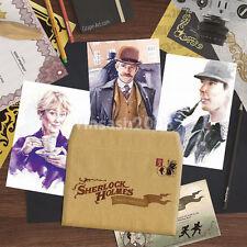 Sherlock Holmes 3 Postcards with Envelope, Watson Movie Rare TV Series Art Card