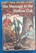NANCY DREW The Message in the Hollow Oak by Carolyn Keene (c) 1935 G&D HC