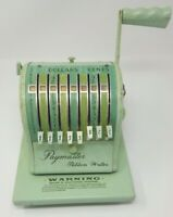 VINTAGE Light Green  PAYMASTER RIBBON WRITER SERIES 8000 CHECK PRINTER with key