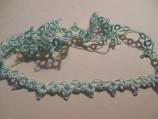 "Tatted Trim 60"" Mint Green Edging Crazy Quilts Scrapbook Dove Country Tatting"