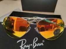 RAY BAN RB3026 62mm Aviator Unisex Sunglasses Golden frame/Orange Mirror Lens