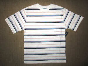 Faded Glory Boys size 10-12 white short sleeve stripe Shirt  NWT