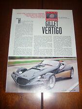 1996 GILLET VERTIGO SPORTS CAR  - ORIGINAL ARTICLE