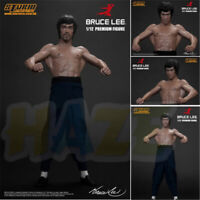 Bruce Lee Muscle PVC Action Figure Toy 15cm Real Cloth Version Gift