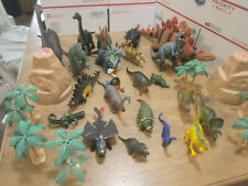 22 Dinosaur Toys 6 Trees 2 Mountains Biggest 19 inches Smallest 2 inches