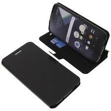 Tasche für Blackberry DTEK60 Book-Style Schutz Hülle Handytasche Buch Schwarz