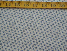 Vintage Tiny Blue Leaf Cotton Calico Fabric BTY Fabric Traditions 1992
