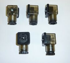 Solenoid Valve Coil Din 43650a Pg11 Ac 3 Pin Plug Connector Led Light 5 Pieces