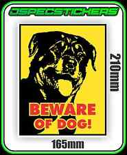 ROTWEILER DOG WARNING STICKER BEWARE VINYL DECAL NOT A SIGN SECURITY GUARD