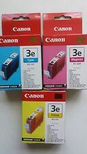 BCI-3E Genuine Canon BCI-3E Magenta, Cyan, Yellow Ink Cartridges - Original!!