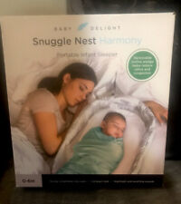 Baby Delight Snuggle Nest Harmony Portable Infant Sleeper in Silver Clouds
