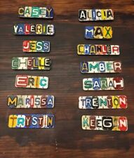 Custom Magnetic Recycled License Plate Metal Employee Name Tags