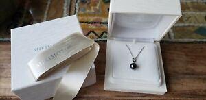 Mikimoto - Black South Sea Cultured Pearl and Diamond Pendant