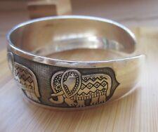 Tibetan Silber Damen Armband Armreifen Elephant regulierbar Schmuck NEU TA02