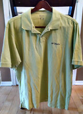 COLUMBIA Men's Large Green Short Sleeve Polo Shirt