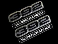VMS 2 CHRYSLER DODGE 392 SUPERCHARGED HEMI ENGINE HO EMBLEM BLACK SILVER