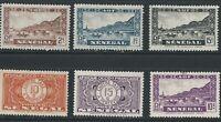 1941 SENEGAL, AFRICA 6 STAMPS MVLH  TAX AND BRIDGES