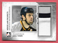 2011-12 Shea Weber ITG In The Game Heroes and Prospects Jersey /80 - Predators