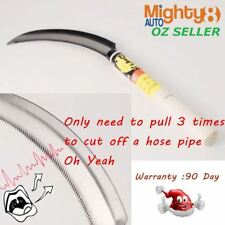 """8"""" Serrated Sickle Water Hose Cutter Knife Weeding Cutting Harvesting Saw Rubber"""