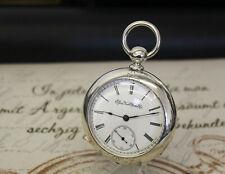 Schwere Silber Elgin Natl. Watch Co Taschenuhr pocket watch NEWPORT COIN