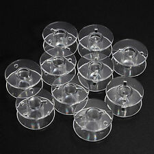 GB 10 Clear Bobbin Sewing Machine Plastic Spools For Thread Brother Singer Elna