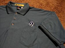 Men's ~ VW Volkswagen ~ Ribbed Embroidered Polo Golf Shirt by Aramark 2XL XXL