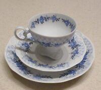 East German GDR Mid Century Porcelain Cup Saucer Plate PMP 1817 Plaue Schierholz