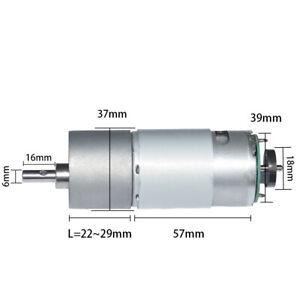 DC Gear Motor with Hall Encoder 12/24V Dia Output Shaft 6mm for DIY Engine Robot